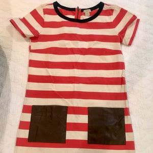 JCREW dress with brown front pockets